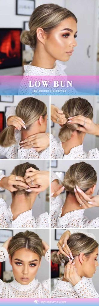 Low Bun #hairtutorial