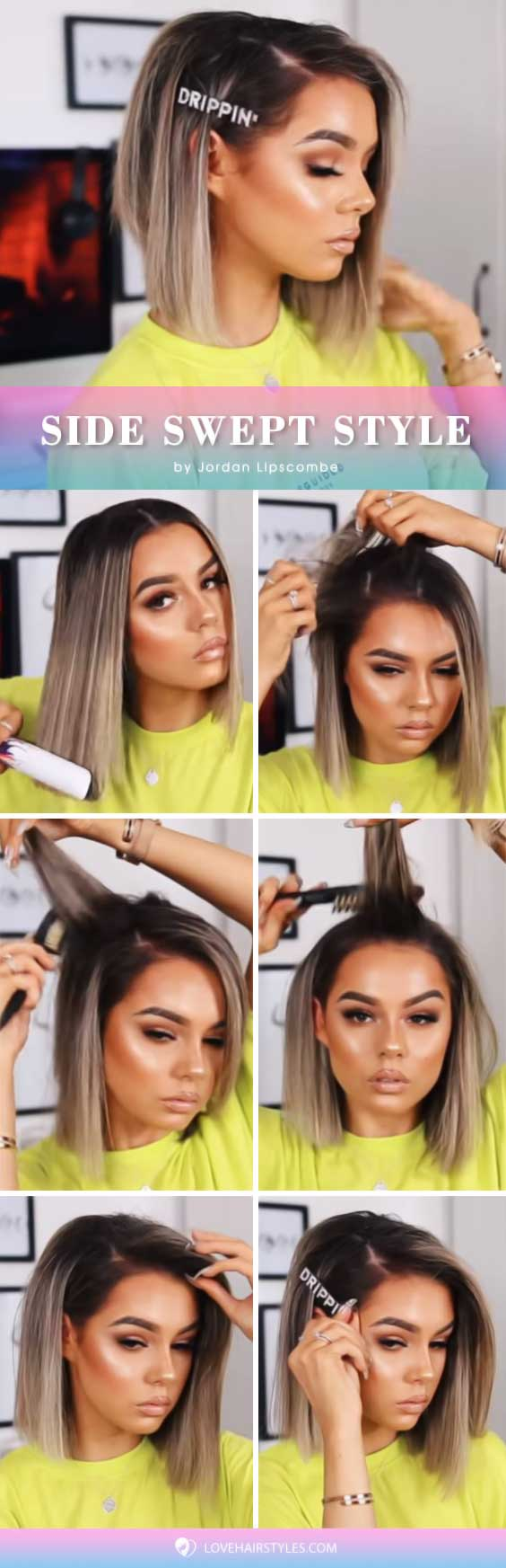 Side Swept Style #hairtutorial