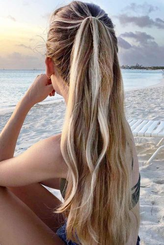 Layered Half Up Half Down Ponytail picture1
