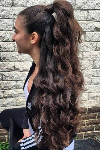 Special Wavy Half Ponytail picture1