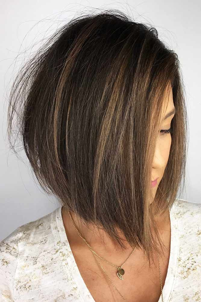 A-Line Bob Hairstyles For Women Over 40 #hairstylesforwomenover40 #olderwomenhairstyles