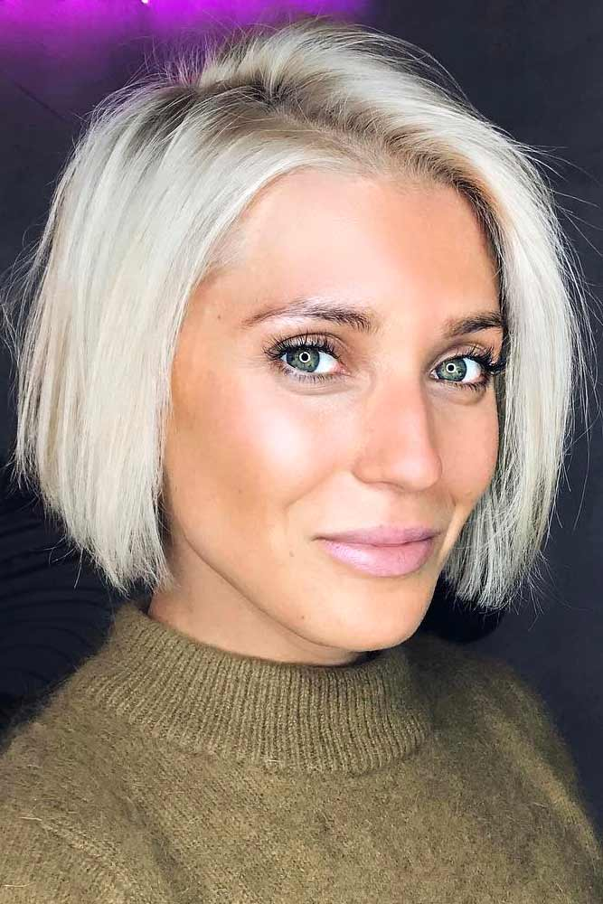 Blonde Bob Hairstyles For Women Over 40