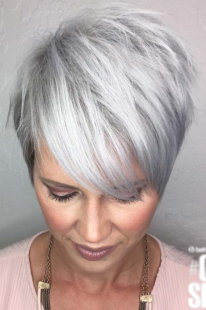 Platinum Pixie Hairstyles For Women Over 40