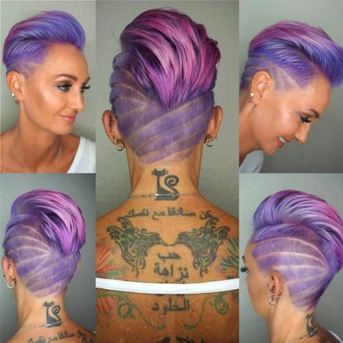 Pink Ombre with Undercut