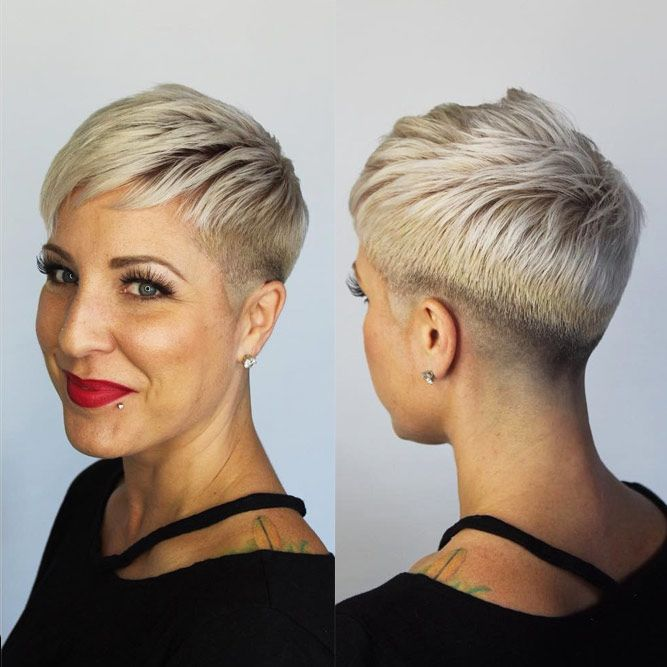Pixie Undercut Hairstyles For Women Over 40 #hairstylesforwomenover40 #olderwomenhairstyles