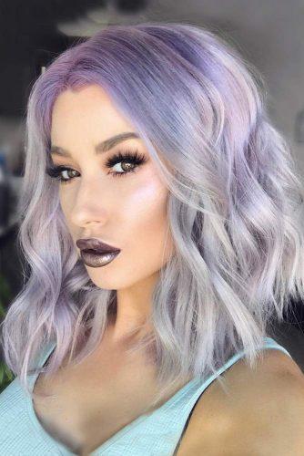 Dark and Deep Purple Hair to Ashy Blonde - Amethyst
