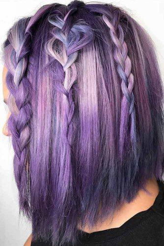 Pink-to-Violet Hair Color–Kunzite
