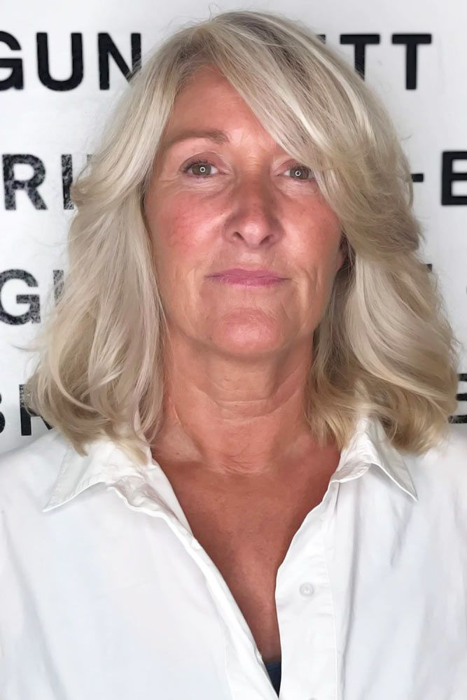 Side Styling Waves #hairstylesforwomenover50 #hairstylesforwomenover60