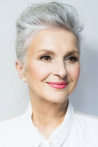 Short Hairstyles for Women Over 50 #messyhair #updo
