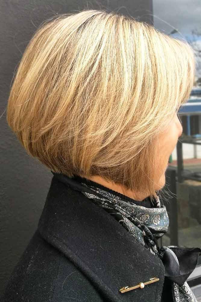 Classy Blonde Layered Bob #shorthair #bob