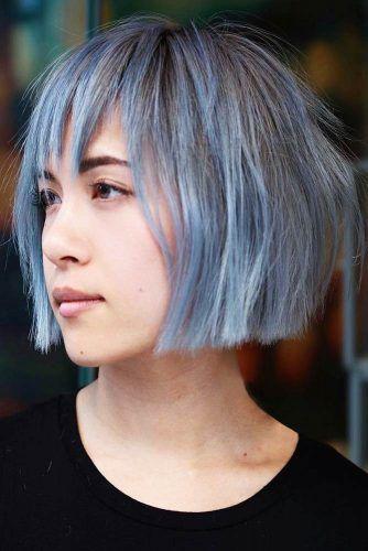 Blunt Bob Haircuts For Thin Hair Blue #thinhair #bob