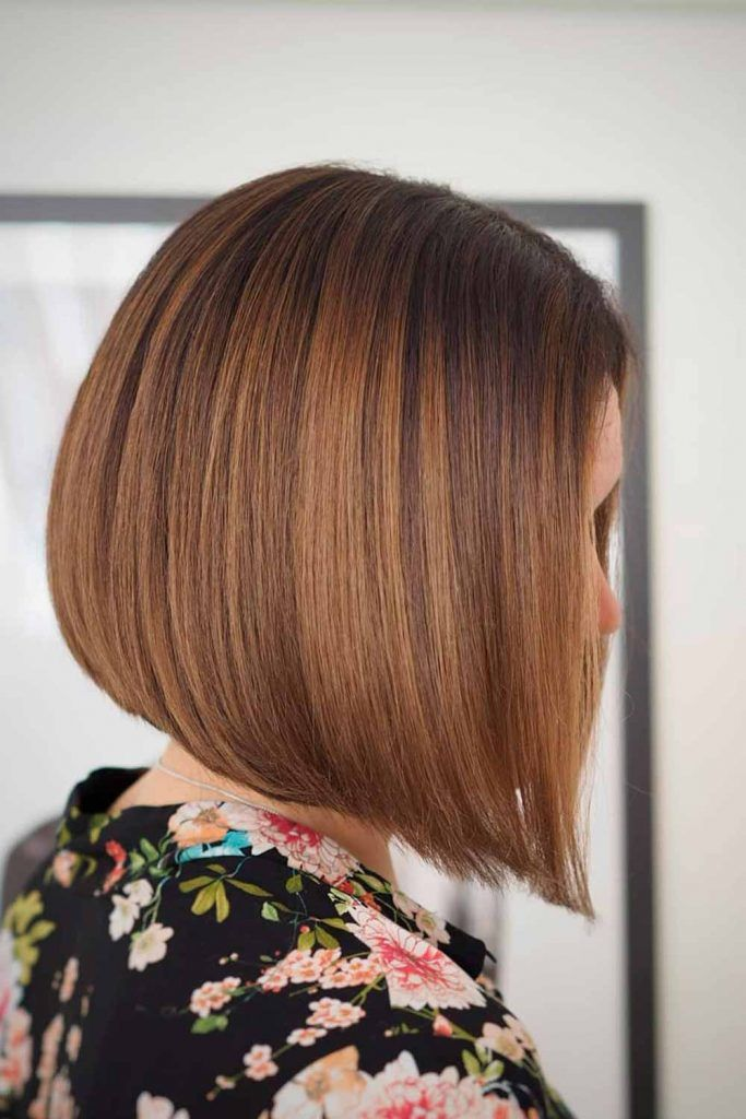 A-Line Bob With Copper Highlights