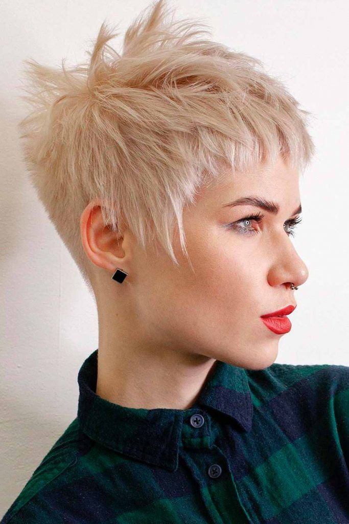 Cool Blonde Layered Pixie