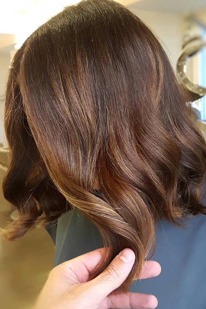 Natural Brown with Blonde Highlights