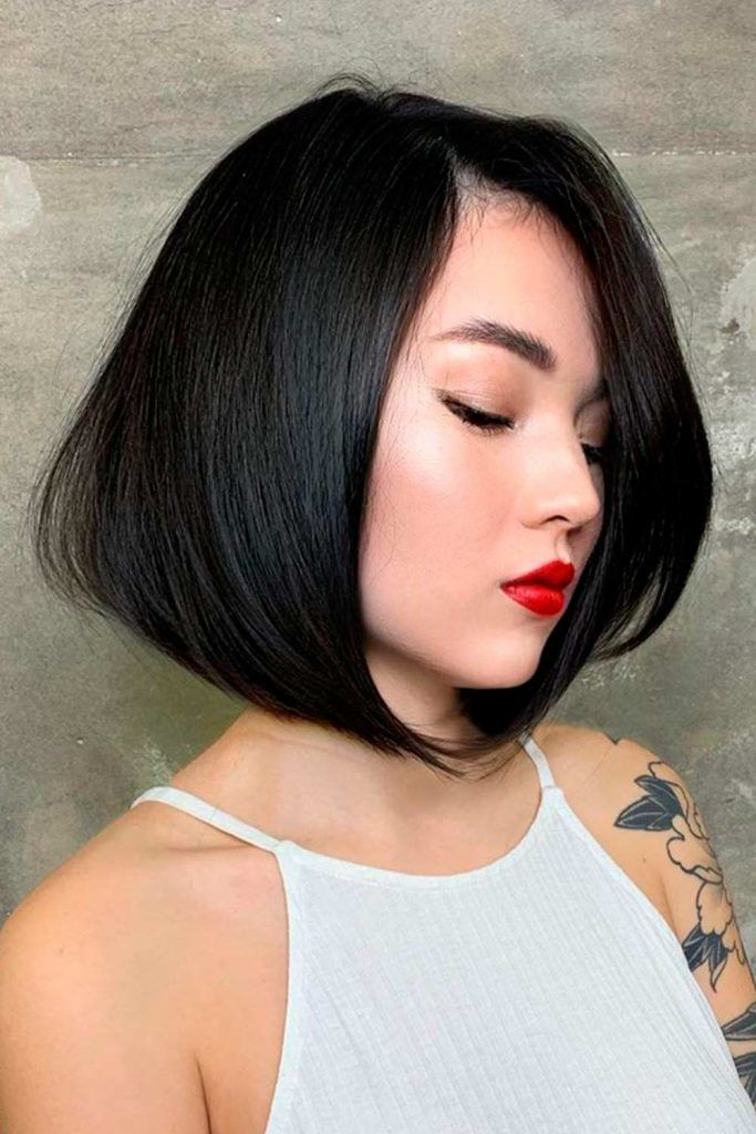 Brunette Long Bob Hairstyles For Thick Hair
