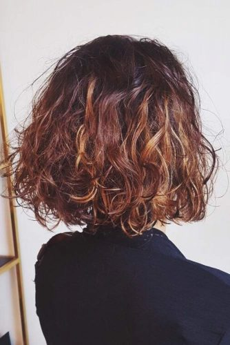 Curly Short Bob