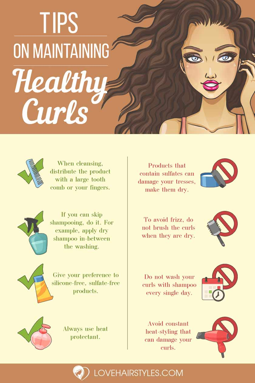 Discover New Ideas For Your Beautiful Curly Hair Infographic
