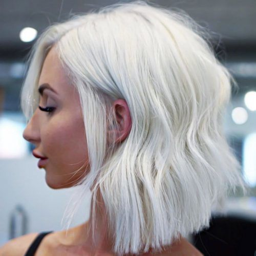 Messy Soft Waves Bob #bleachedhair