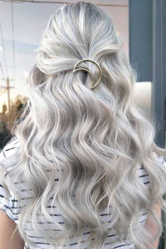 Beautiful Bleached Hair with Accessories
