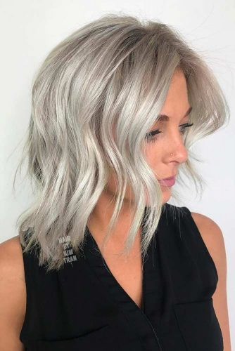 Grey Layered Bob
