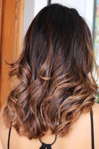 Dark Chocolate Hair With Caramel Ends Ombre #brunette #ombre