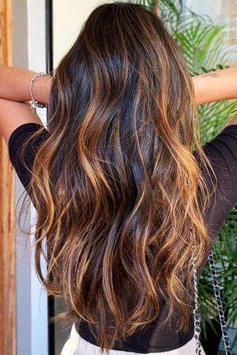 Copper Highlights On Brown Hair #brunette #highlights