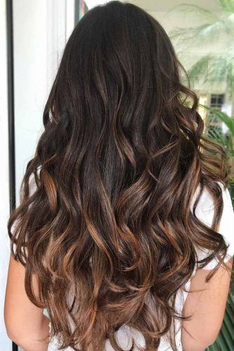 Dark Chocolate Hair With Caramel Ends #brunette #balayage