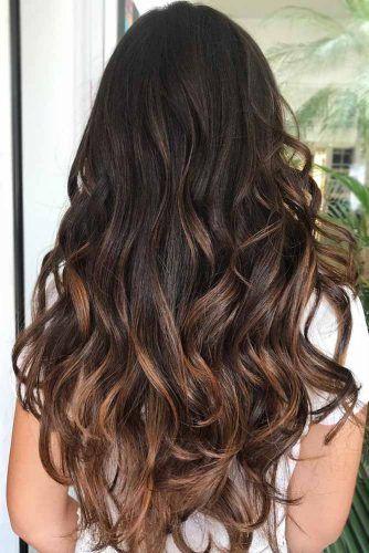 Dark Chocolate Hair With Caramel Ends #brunette #balayage
