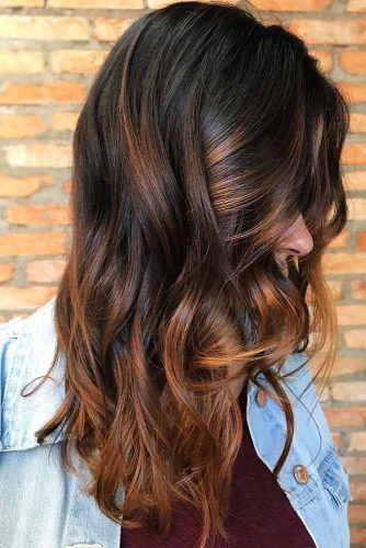 Reddish Brown Highlights Brunette #brunette #highlights #redhair