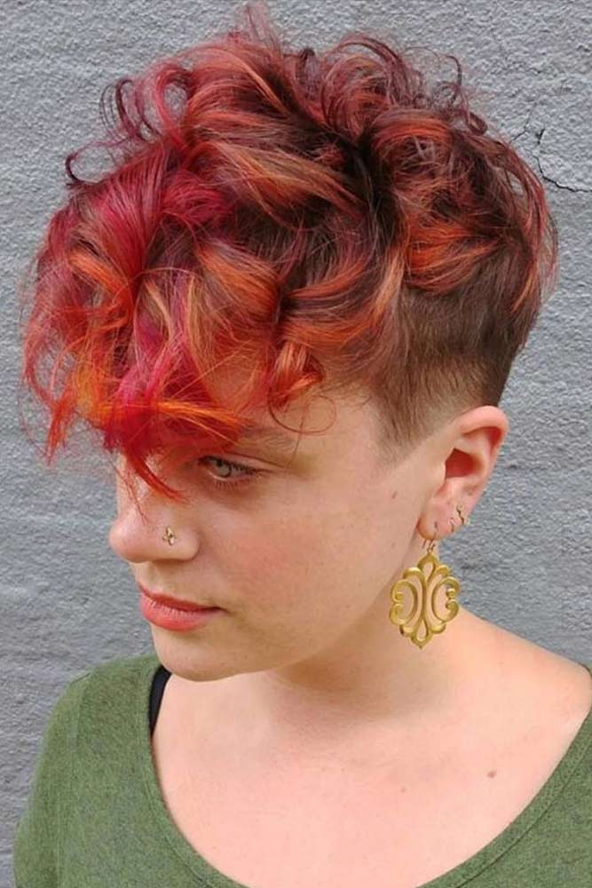 Pixie with Colorful Highlights
