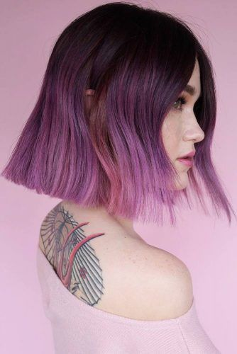 Amethyst Dark Purple Hair Ombre #purplehair #ombre