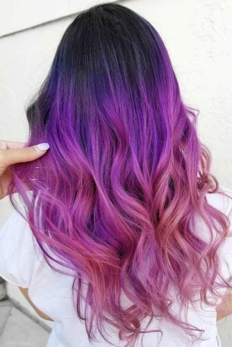 Dark Purple Hair Dusty Mauve #purplehair #darkpurplehair