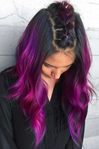 Dark Purplish Pink Black #purplehair #ombre
