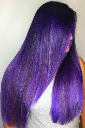 Dark True Purple #purplehair #brunette