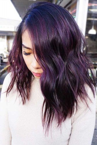 Deep Plum Black #purplehair #brunette