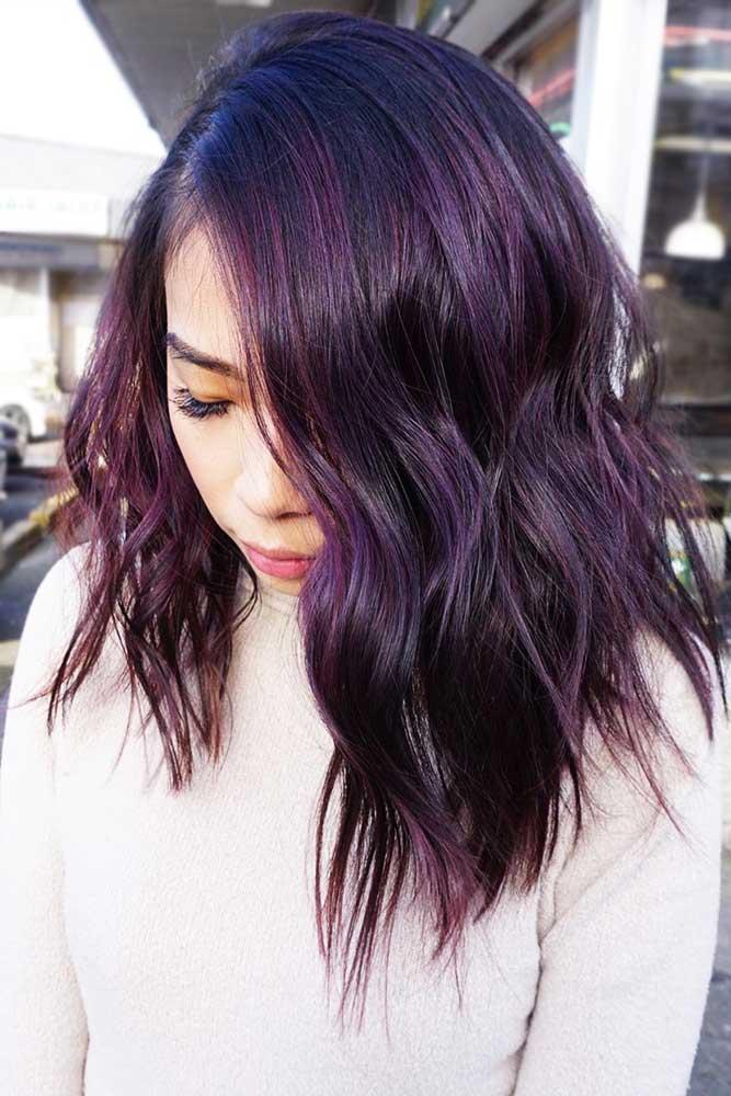 Deep Plum Black #purplehair #brunette