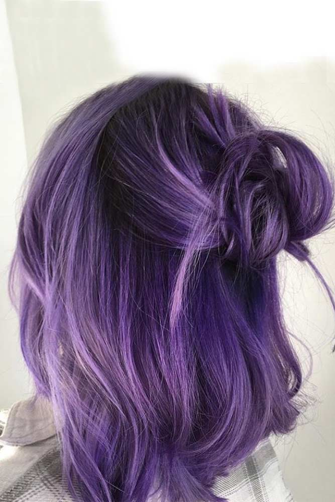 Dark Purple Hair Dusty Mauve picture3