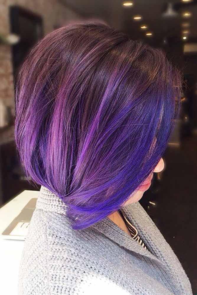 Dark Purple Hair Dusty Mauve picture1