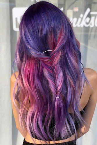 Purple Ombre Braid #purplehair #darkpurplehair