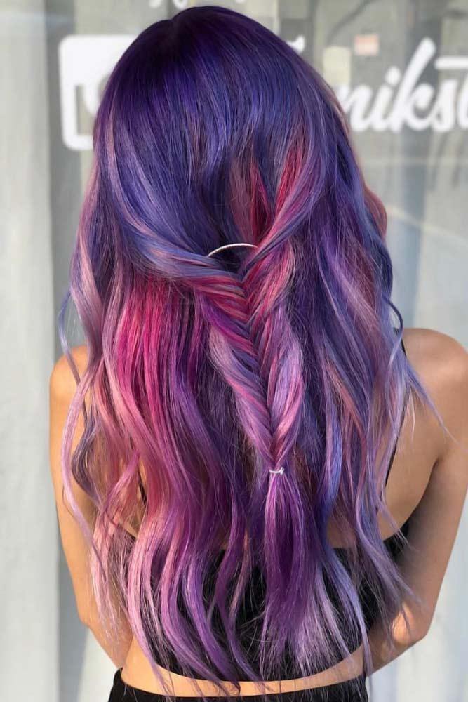 Purple Ombre Braid #purplehair #darkpurplehair