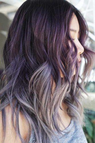Silvery Violet Ombre #purplehair #darkpurplehair