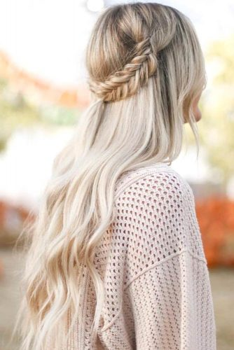 Half Up Fishtail Braid Hairstyles picture1