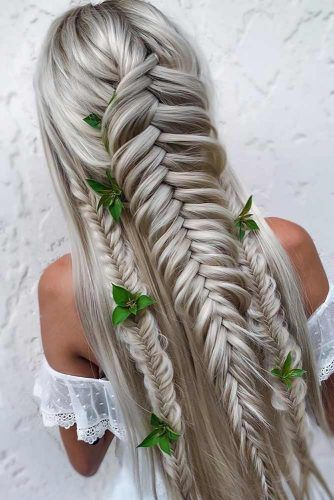 Dutch & French Fishtail Braids #fishtailbraids #braids