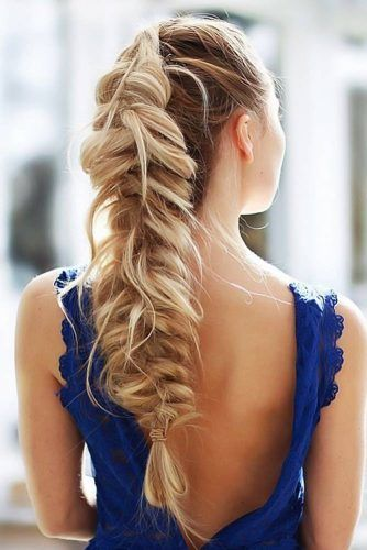 Messy Fishtail Faux Hawk #fishtailbraids #braids