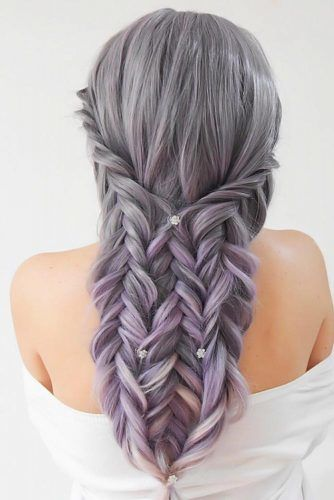 Triple Fishtail Braid #fishtailbraids #braids
