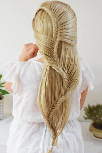 Wavy Fishtail Braid Design #fishtailbraids #braids