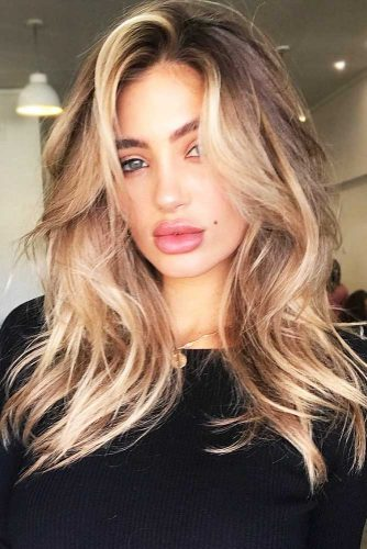 Highlights For Brown Hair #blondehair #brunette #wavyhair