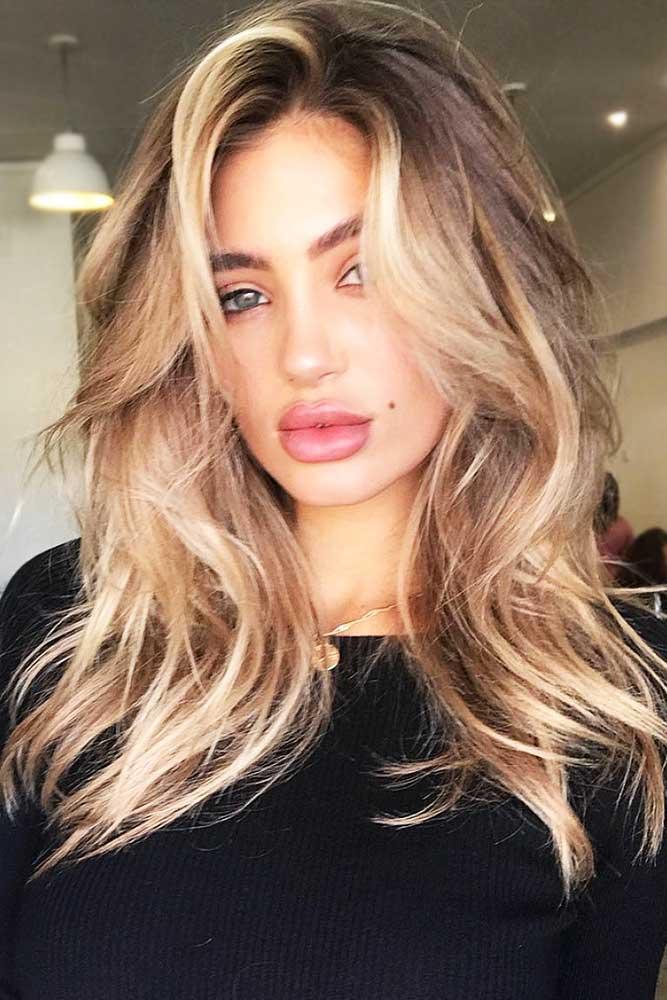 Highlights For Brown Hair #blondehair #brunette #wavyhair