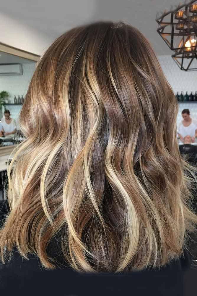 Medium Length Hair #highlights #blondehighlights