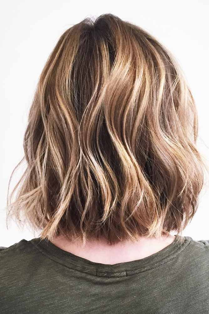 Brown Hair Bob With Golden Locks #highlights #blondehighlights